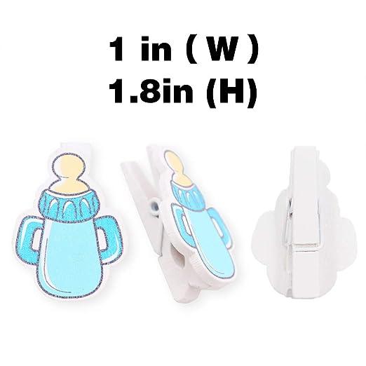 Amazon.com: Mini pinzas para la ropa de Baby Shower, botella ...