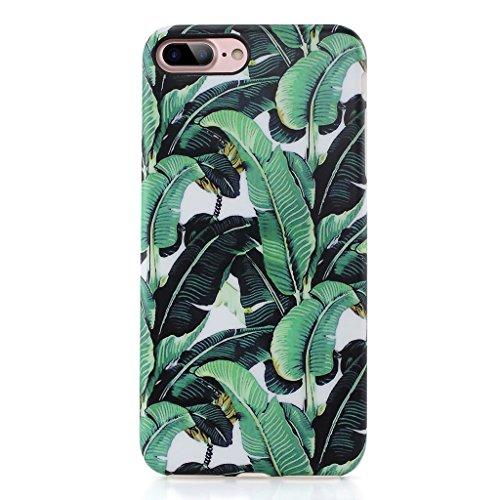 Case Banana (GOLINK iPhone 7 Plus Case, IMD Printing Slim-Fit Anti-Scratch Shock Proof Anti-Finger Print Flexible TPU Gel Case For iPhone 7 Plus 5.5 inch Display - Banana Leaf)