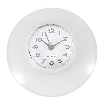 Mini Horloge Murale Ronde Décorative Numérique Étanche Pour Salle De Bain 6  Couleurs Quartz Horloges Décoration