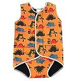 SYLPHID Toddler Swimsuit Baby Swimwear Infant Warm Neoprene Wetsuit Boys Girls Swim Vest UPF 50+ Orange Dinosaurs (M)