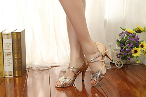 Minitoo Damen Standard & Latein Gold-8.5cm Heel
