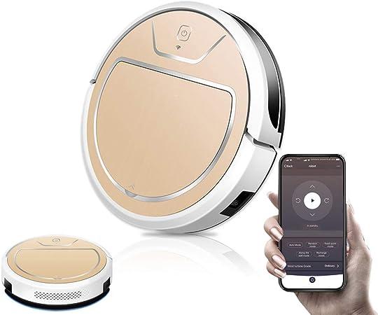 WiFi Aspiradoras Robot Inteligente 2000 Pa, 2600mAh Carga automática Limpieza programada Escobas Eléctricas Pasar la aspiradora Robot Aspirador Inteligentes, Control de Aplicaciones,A: Amazon.es: Hogar