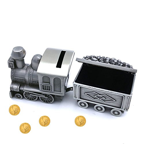 Amor Vintage Metal Train Coin Bank Creative Train Shaped Money Saving Bank Piggy Bank Jewelry Box