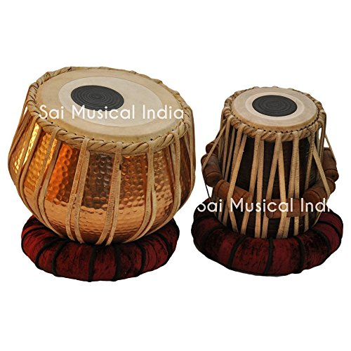 Queen Brass Tabla Set | Professional T9 Model with Gig Bag | Ships from U.S. by Queen Brass