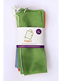 10 Bolsas Ecologicas Para Frutas,Verduras,Supermercado, Bolsas Reutilizables, Reusable Grocery Bags.