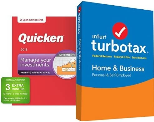 TurboTax Home and Business 2017 with Quicken Premier 2018 27-Month Membership