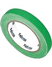 Selens Rollen Neon tape UV Spike Tape Groen 12 mm x 23 M, fluorescerende stoffen tape in het donker oplichtende tape onder UV blacklight plakband voor vloeren podiums, filmsmaken, video spel party