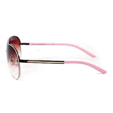 5d384d1e5e Amazon.com  Anais Gvani by Dasein Women s Classic Aviator Chic Rimless  Sunglasses w Metallic Line Accent  Clothing