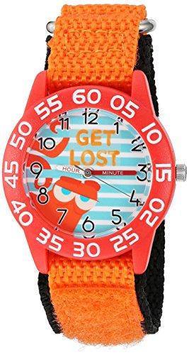 Disney Boy's 'Finding Dory' Quartz Plastic and Nylon Watch, Color:Orange (Model: W003013)