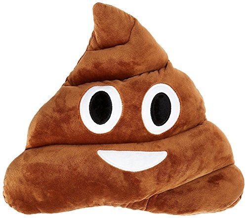 "Q's 13"" Poop Poo Emoji Emoticon Cushion Pillow Brown Stuffed USA Seller"
