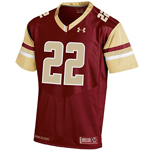Under Armour NCAA Boston College Eagles Men's Sideline Replica Jersey, Large, Cardinal
