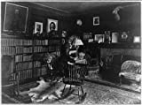 Photo: Interior,Sagamore Hill,bookcases,fireplace,T Roosevelt,homes,Oyster Bay,NY,1870