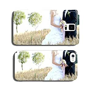 Newlyweds in a cornfield cell phone cover case Samsung S5