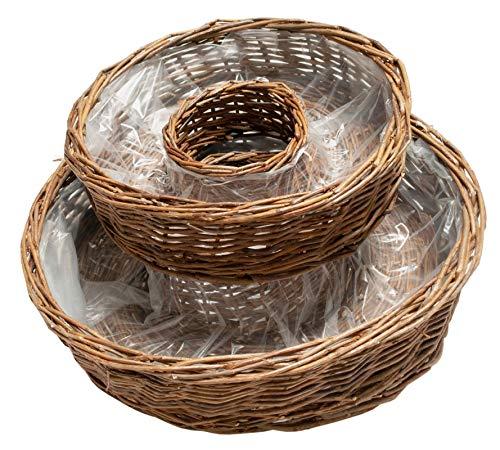 Weiden Pflanzring Set Kr/äuterringe Natur Braun 2 St/ück /Ø 40cm Und 50cm Pflanzk/örbe Gartenk/örbe