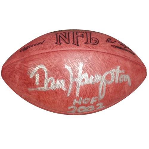 Dan Hampton Autographed NFL Game Football w/