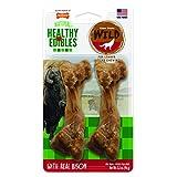 NYLABONE 2-Count Healthy Edibles Medium Wild Bison Dog Treat Bones