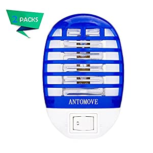 Antomove Bug Zapper Electronic Mosquito Zapper Electronic Insect Killer Eliminates Most Flying Pests Two-Pack