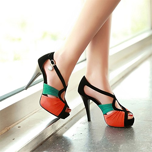 Heel Stiletto amp; B Rhinestone Sexy Toe Shoes Fall Comfort Sandals Women's Spring Evening Open for Wedding Party HBSqX6Y
