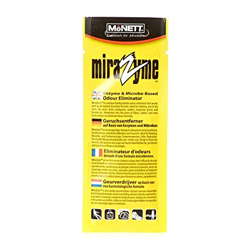 1 x McNett Mirazyme Odour Eliminator Shampoo for Wetsuits,Dry Suits,Sports Gear.15ml by Mcnett