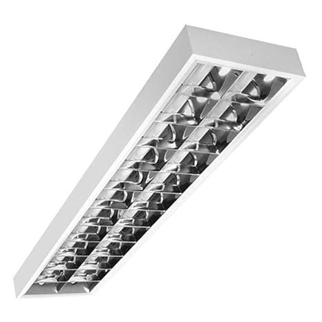 Lámpara de cuadrícula para 2 x LED T8 cuadrícula lámpara de ...
