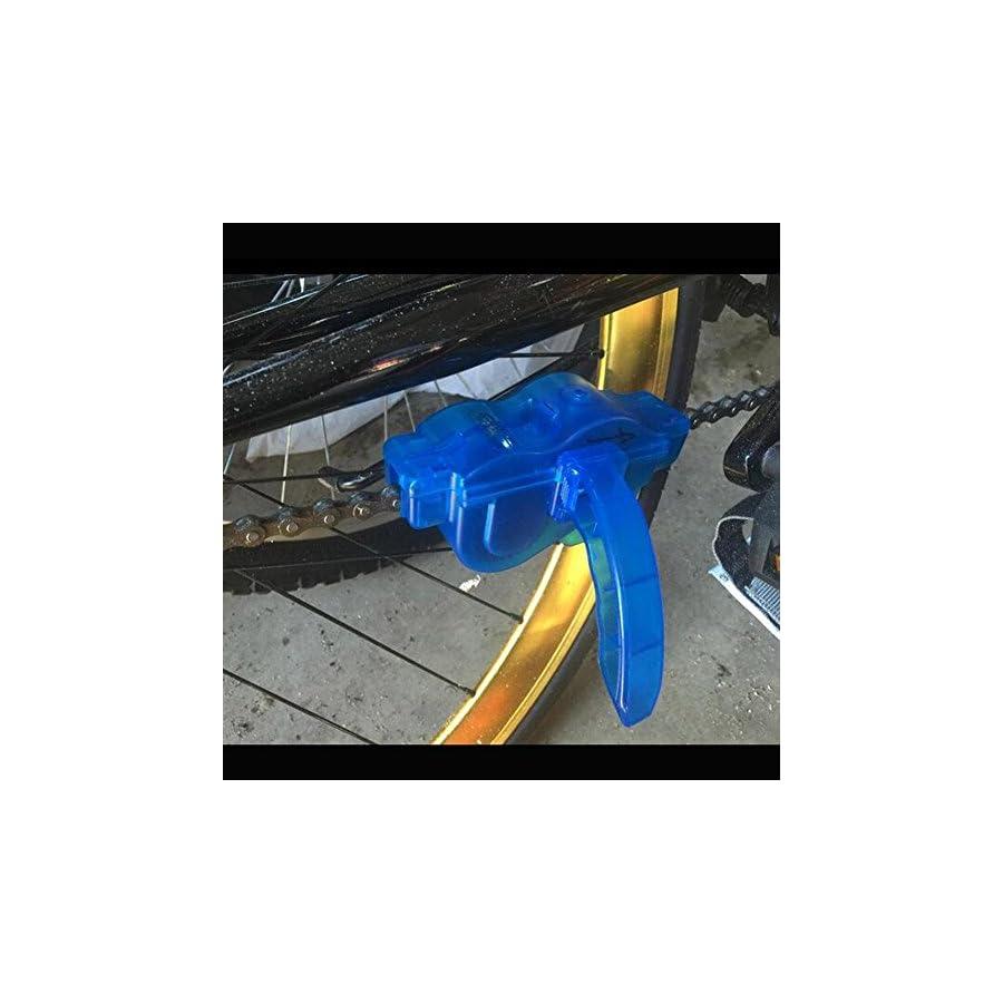BlueSunshine Bike Chain Scrubber Chain Brush Chain Gear Cleaner Bicycle Clean Tool Set Bike Maintenance Care Cleaner Accessories for Cycling Bikes Road Bikes Mountain Bikes MTB