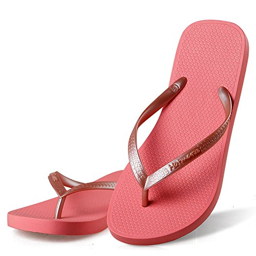 Sandal 4 Sexy - Hotmarzz Women's Slim Flip Flop Summer Flat Slippers Beach Thong Sandals Size 4 B(M) US / 35 EU / 36 CN, Red