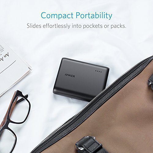 Anker PowerCore 13000 C (USB-C Input only), Compact 13000mAh 2-Port Ultra Portable Phone Charger, Power Bank with PowerIQ and VoltageBoost Technology, for iPhone, Samsung Galaxy and More by Anker