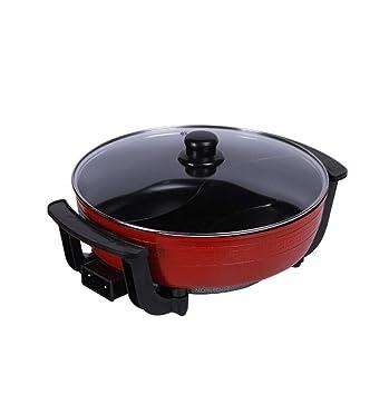 CY&Y Olla eléctrica Redonda Olla eléctrica Wok multifunción Cocina eléctrica hogar Mini Olla eléctrica Caliente