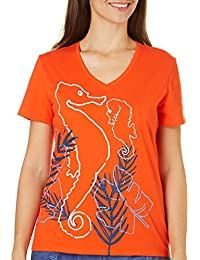 Petite Seahorse Embellished Top