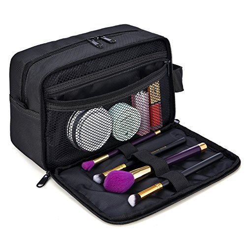 Toiletry Bag, GRM Travel Kit Waterproof Shaving Bags Dopp Kit Cosmetic Bag Organizer, (Black Wash Bag)