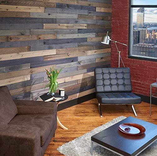 Wall Board 1/2 in. x 4 in. x 4 ft. Weathered Hardwood Board