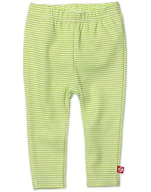 Baby Skinny Leggings Lime Candy Stripe 6 Months