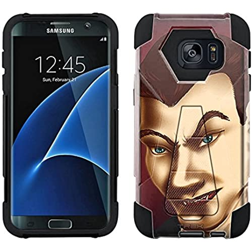 Samsung Galaxy S7 Edge Hybrid Case Dracula 2 Piece Style Silicone Case Cover with Stand for Samsung Galaxy S7 Edge Sales