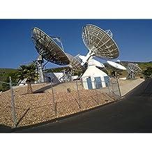 Laminated Poster Antenna Satelit Ground Station Poster Print 24 x 36
