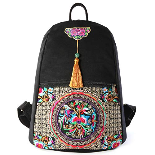 Embroidery Canvas Backpack...