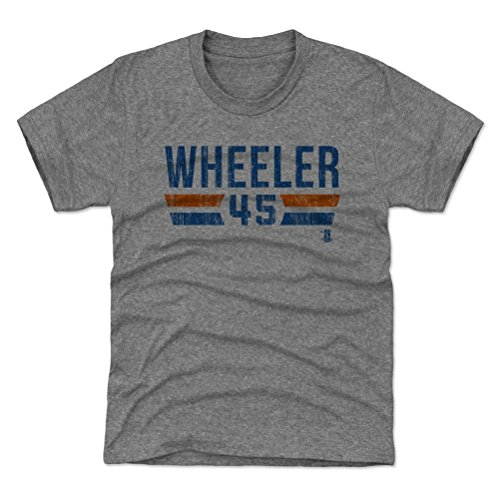 New York Baseball Youth Shirt - Kids Large (10-12Y) Tri Gray - Zack Wheeler New York Font B