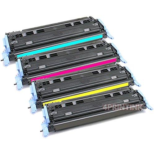 Toner Cm1017mfp Black (4 Pack Q6000A-Q6003A Toner For HP Color LaserJet 1600 2600 2605dn 2605dtn)