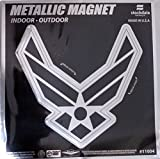 Air Force 6'' MAGNET Silver Metallic Style Vinyl Auto Home United States Military