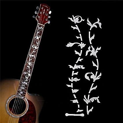 Guitarra trastes incrustaciones pegatinas adhesivos de diapasón de ...