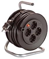 as - Schwabe 10180 Mini-Sicherheits-Kabeltrommel, schwarz 180mmØ 15m H05VV-F...