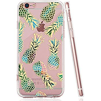 iPhone 6, 6S Clear Case, Slim Floral TPU PC Clear Back Cover Case for Apple iPhone 6/iPhone 6S 4.7 inch (Clear Flower 04)