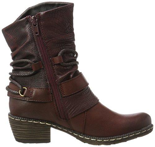 Girls' Burgund Schwarz Asphalt Schwarz Bordeaux Rieker Vinaccia 35 Red K1480 Boots Cowboy OvqdZW