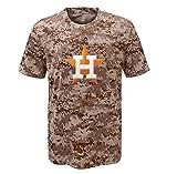 Majestic MLB Youth Digi Camo T-shirt (Youth Xlarge 18/20, Houston Astros)