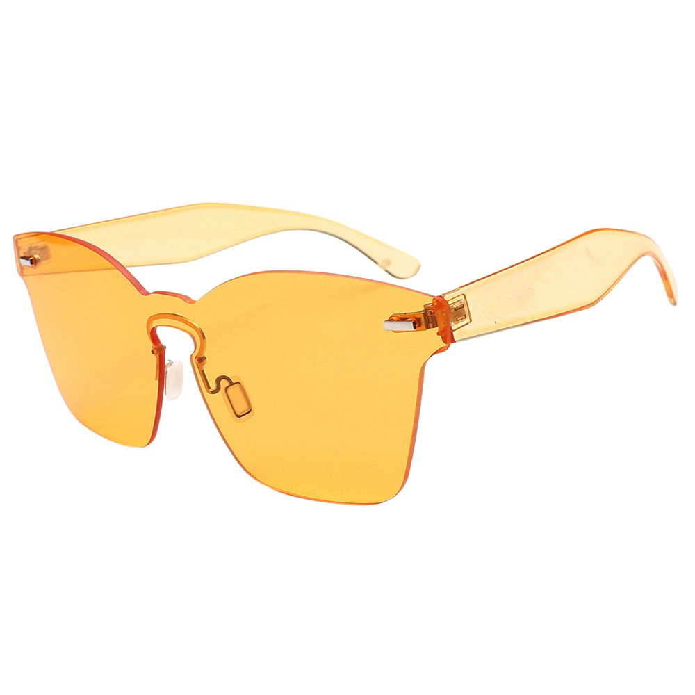 KCPer Fashion Men Womens Vintage Round Frame UV Protection Glasses Retro Unisex Square Oversized Butterfly Sunglasses Outdoor (Yellow)