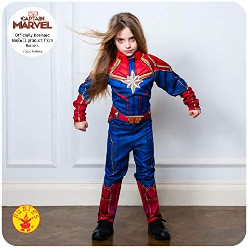 Amazon Com Girls Captain Marvel Hero Suit Deluxe Superhero Costume Toys Games Here are all the different costumes captain marvel has had. girls captain marvel hero suit deluxe superhero costume