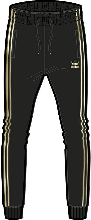 adidas Originals Mens Superstar 24 Trackpant, black/Gold ...