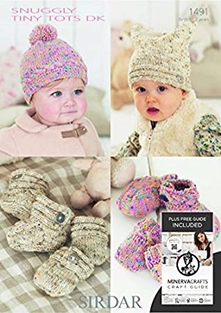 Sirdar Baby Snuggly Tiny Tots Dk Booties Hats Mittens Knitting