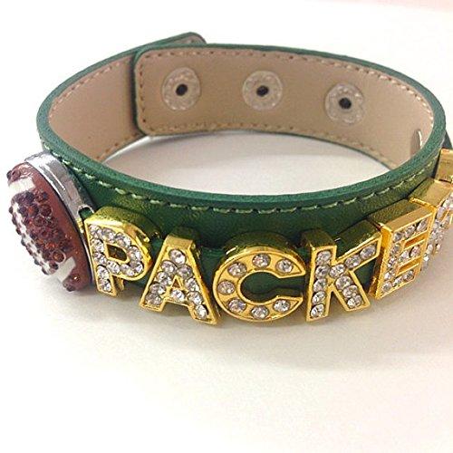 Green Bay Packers Rhinestone Slider Bracelet / Gift for Her/ Football Mom / Sports Fan / Football ()