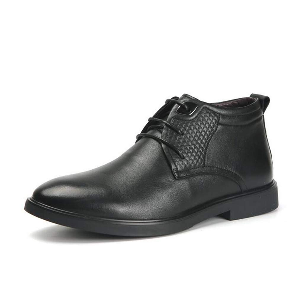 Hy Calzado de Hombre, Cuero, Cuero Caída Caída Caída con Cordones, Botas Martins con Cordones, además de Cachemira Calzado a Prueba de Viento Zapatos Casuales de Invierno Zapatos de Negocios 2cdf86