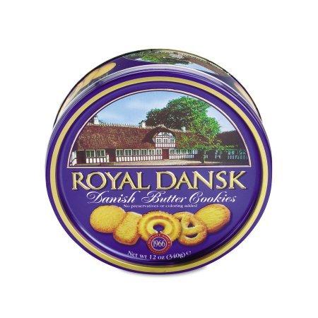 Royal Dansk Cookies Danish Butter 12oz Tin Case (Pack 4)